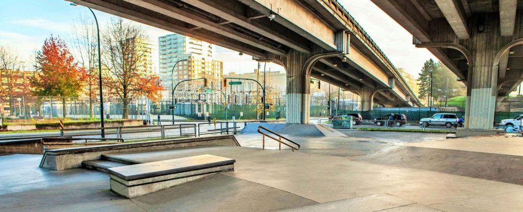 Downtown Skate Plaza - Electric Skateboard Vancouver