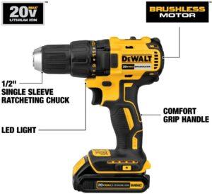DCD777C2 DeWalt Brushless Cordless Drill