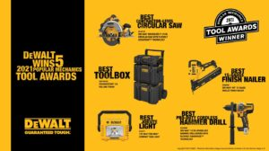 DeWalt wins 5 awards from Popular Mechanics for the best tools in 2021